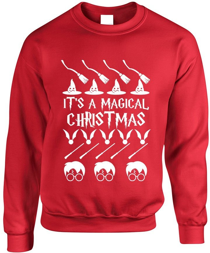 Allntrends Adult Crewneck It's A Magical Christmas Ugly Sweater Cool Gift (3XL, )