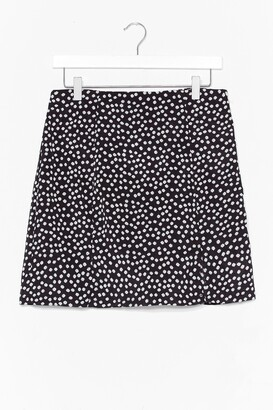 Nasty Gal Womens DAISY PRINT SIDE SPLIT MINI SKIRT - Black - 6