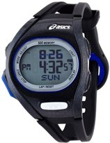 Asics Unisex CQAR0101 Black and Blue Digital Race Running Watch
