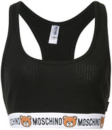 Moschino toy bear trim bra top - women - Cotton - XS
