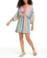 Dotti Havana Coast Striped Tunic Swim Cover-Up, Created For Macy's Women's Swimsuit