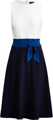 Ralph Lauren Three-Tone Jersey Dress