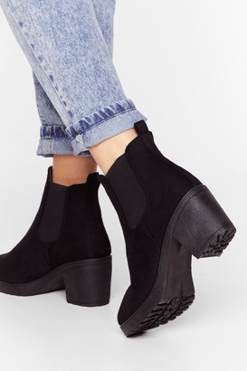 Nasty Gal Womens One Night Stand Faux Suede Ankle Boot - Black - 3
