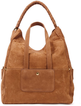 Jerome Dreyfuss Gaspard Leather-trimmed Suede Tote