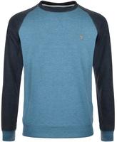 Farah Tanton Raglan Sweatshirt Blue
