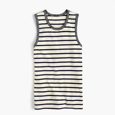 J.Crew Metallic-trim striped shell
