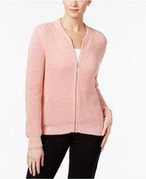 NY Collection Metallic Sweater Jacket