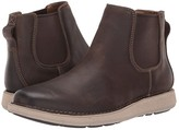 Clarks Un Larvik Up (Brown Oily Leather) Men's Shoes