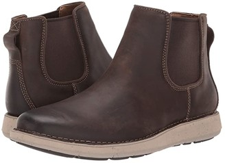 Clarks Un Larvik Up (Brown Oily Leather) Men's Shoes