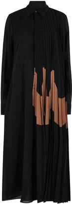 Jil Sander Mirabelle black chiffon shirt dress