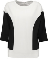 Goat Danielle Two-Tone Wool-Crepe Top