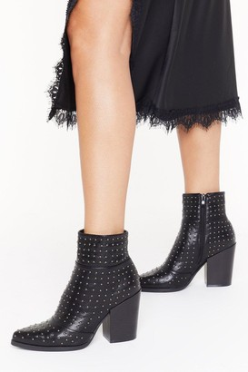 Nasty Gal Womens Stud for Nothing Heeled Boots - Black