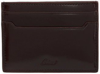 Brioni Burgundy Logo Card Holder