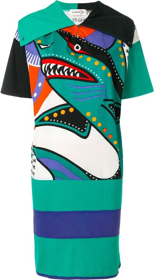 Kansai Yamamoto Pre-Owned 1990s oversized T-shirt dress
