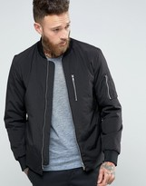 Selected Plus Bomber Jacket with MA-1 Detail