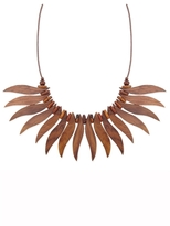 Z Designs Wavy Wood Bib Necklace