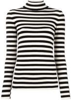 Twin-Set mock neck striped jumper