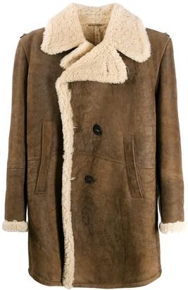 Neil Barrett shearling double-breasted coat