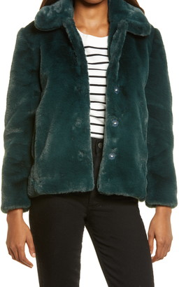 Madewell Faux Fur Crop Coat