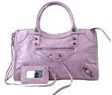 Melord Women Business Rivets Crossbody Shoulder Bag Hobo Tote Bag Soft Leather Top Handle Handbag White