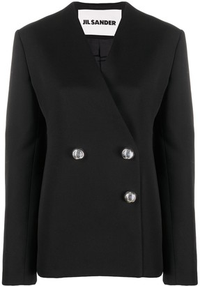 Jil Sander Double-Breasted Fitted Blazer