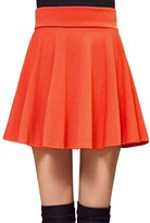 Roundshop Women's Versatile Stretchy Fla Pleated Skater Skirt XL
