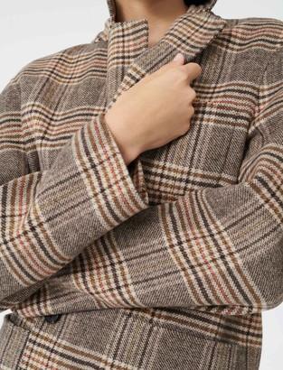 Maje Checked jacket-style coat