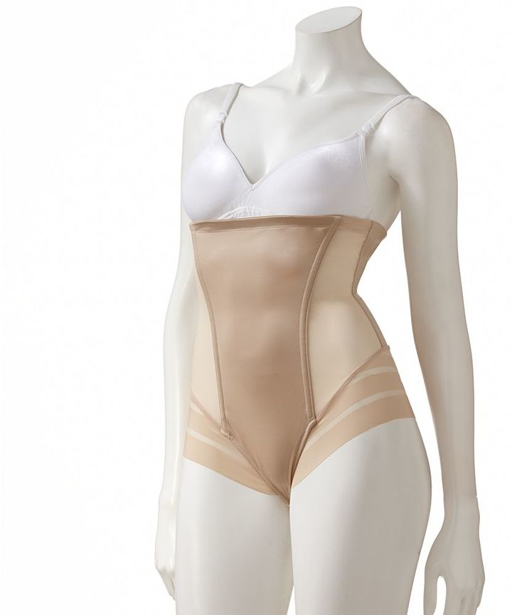 Maidenform shapewear sleek stripes high-waist brief 2064 - women's