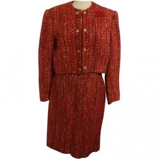 Celine Red Wool Skirt for Women Vintage