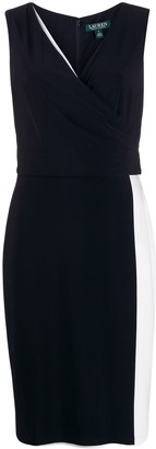 Lauren Ralph Lauren Two-Tone Midi Dress