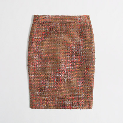 J.Crew Factory Factory pencil skirt in frayed tweed
