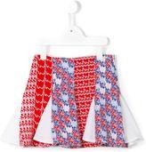 Kenzo diagonal stripes skirt - kids - Polyester/Spandex/Elastane - 6 yrs