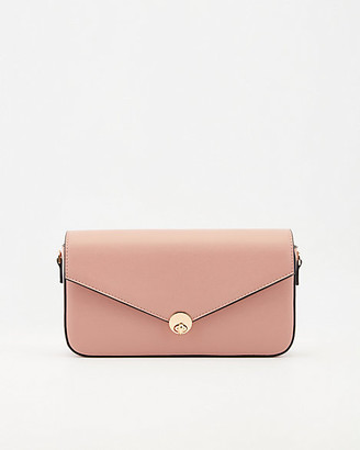 Le Château Faux Leather Flapover Crossbody Bag