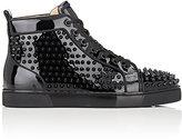 Christian Louboutin Men's Louis Orlato Flat Patent Leather Sneakers-BLACK