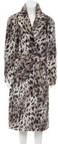 Maje Leopard Print Faux Fur Coat