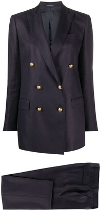 Tagliatore Double Breasted Trouser Suit