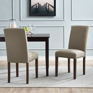 Charlton Home Towry Upholstered Dining Chair Upholstery Color: Fog
