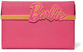 Charlotte Olympia + Barbie® Vanina Textured-leather Box Clutch - Pink