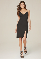 Bebe Open Back Slit Dress
