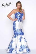 Mac Duggal Fabulouss - 77173 Bustier Gown In Blue Floral