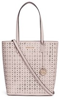 Michael Kors 'Hayley' large floral perforated leather tote