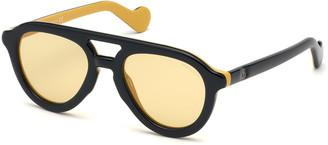 Moncler Men's Rounded Plastic Sunglasses