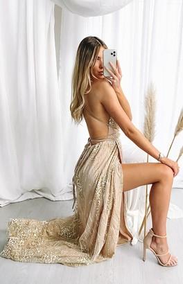 Beginning Boutique Madeline Formal Dress Rose Gold