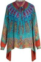 Etro Tie-neck paisley-print silk-georgette blouse
