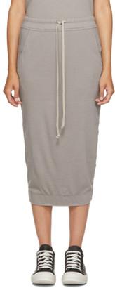Rick Owens Taupe Pillar Skirt