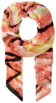 Calvin Klein Painted Stripe Chiffon Scarf