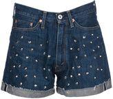 Junya Watanabe Comme Des Garçons Studded Denim Shorts