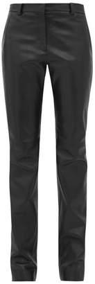 Pallas X Claire Thomson Jonville X Claire Thomson-jonville - Fargo Leather Slim Leg Trousers - Womens - Black