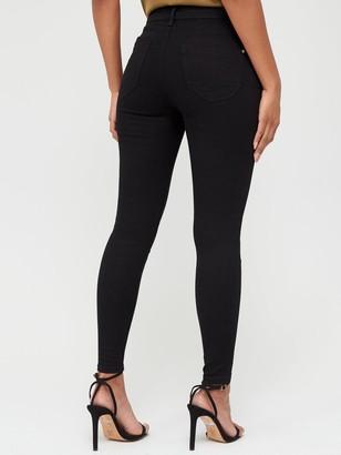 Very High Waist Shaping Skinny Jean - Black