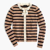 J.Crew Jackie tie-neck cardigan sweater in stripes